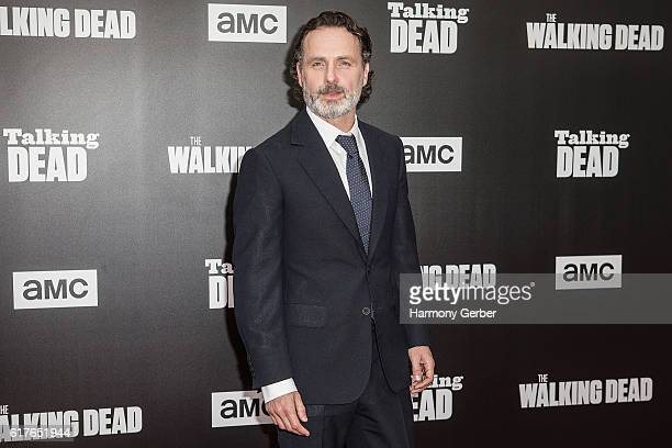 "Andrew Lincoln arrives at AMC presents live, 90-minute special edition of ""Talking Dead"" at Hollywood Forever on October 23, 2016 in Hollywood,..."