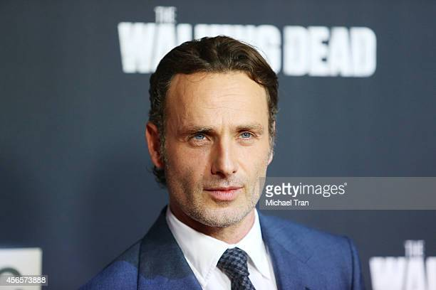 Andrew Lincoln arrives at AMC's 'The Walking Dead' Season 5 Premiere held at AMC Universal City Walk on October 2 2014 in Universal City California
