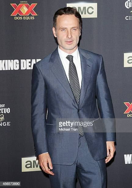 "Andrew Lincoln arrives at AMC's ""The Walking Dead"" Season 5 Premiere held at AMC Universal City Walk on October 2, 2014 in Universal City, California."