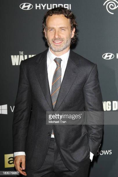 Andrew Lincoln arrives at the Los Angeles premiere of AMC's 'The Walking Dead' 4th season held at Universal CityWalk on October 3 2013 in Universal...