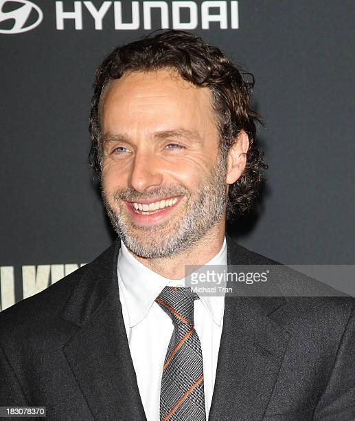 Andrew Lincoln arrives at the Los Angeles premiere of AMC's The Walking Dead 4th season held at Universal CityWalk on October 3 2013 in Universal...