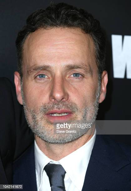 """Andrew Lincoln arrives at the Premiere Of AMC's """"The Walking Dead"""" Season 9 at DGA Theater on September 27, 2018 in Los Angeles, California."""