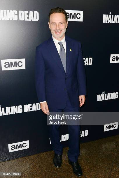 Andrew Lincoln arrives at the Premiere Of AMC's 'The Walking Dead' Season 9 at the DGA Theater on September 27 2018 in Los Angeles California