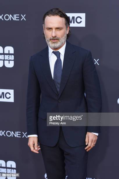 "Andrew Lincoln attends AMC Celebrates The 100th Episode Of ""The Walking Dead"" - Arrivals at The Greek Theatre on October 22, 2017 in Los Angeles,..."