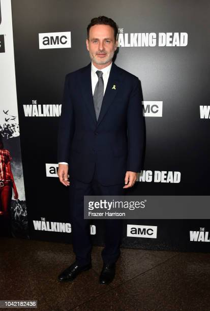 "Andrew Lincoln attends the Premiere of AMC's ""The Walking Dead"" Season 9 at DGA Theater on September 27, 2018 in Los Angeles, California."