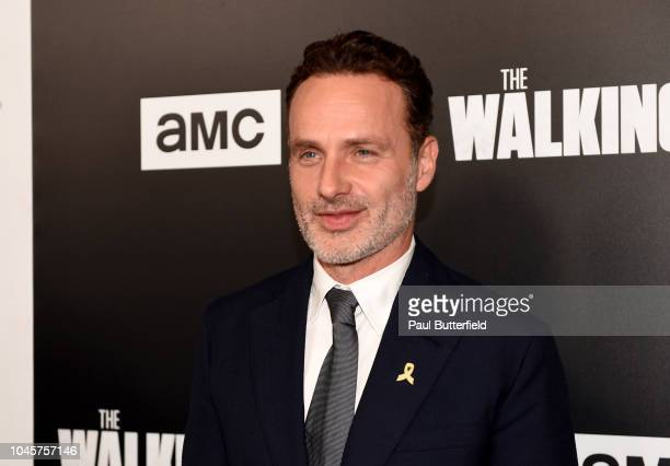 Andrew Lincoln attends the premiere of AMC's 'The Walking Dead' season 9 at DGA Theater on September 27 2018 in Los Angeles California