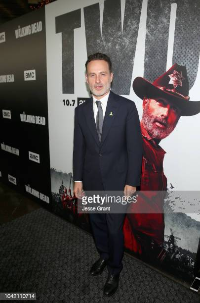Andrew Lincoln attends The Walking Dead Premiere and After Party on September 27, 2018 in Los Angeles, California.