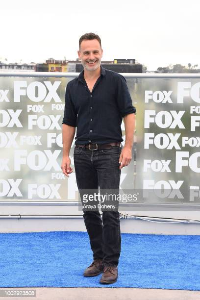 "Andrew Lincoln attends ""The Walking Dead"" press line at Comic-Con International 2018 on July 20, 2018 in San Diego, California."