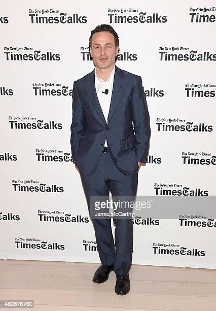 Andrew Lincoln attends TimesTalks The Walking Dead at TheTimesCenter on February 2 2015 in New York City