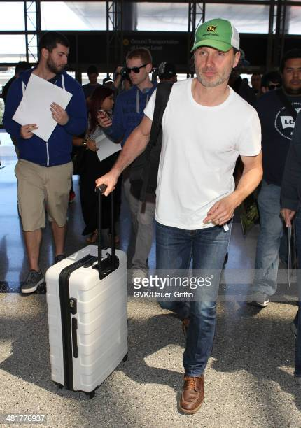 Andrew Lincoln is seen at LAX on March 31 2014 in Los Angeles California