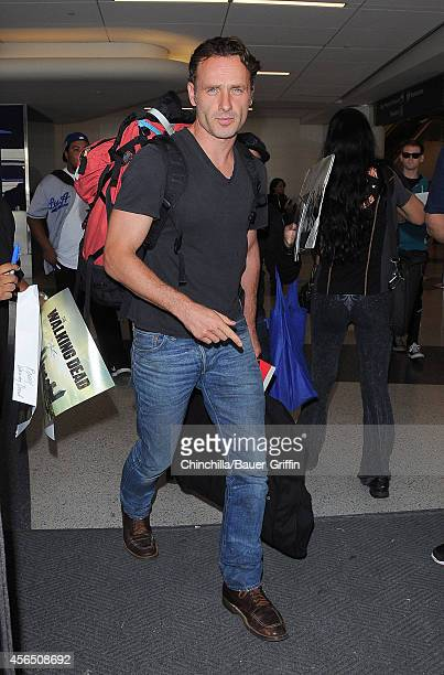 Andrew Lincoln is seen at LAX on October 01 2014 in Los Angeles California