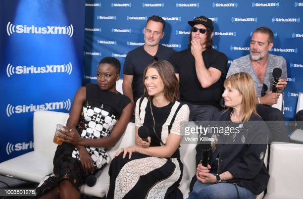 Andrew Lincoln Norman Reedus Jeffrey Dean Morgan Danai Gurira Lauren Cohan and Gale Ann Hurd attend SiriusXM's Entertainment Weekly Radio Broadcasts...