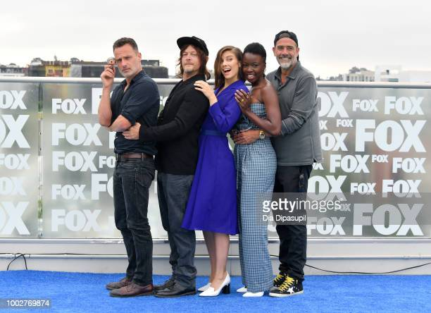 Andrew Lincoln, Norman Reedus, Lauren Cohan, Danai Gurira, and Jeffrey Dean Morgan attend 'The Walking Dead' Photo Call during Comic-Con...