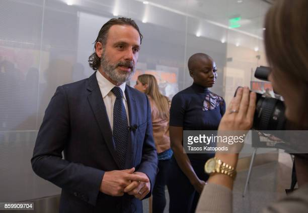 Andrew Lincoln of 'The Walking Dead' attends 'The Walking Dead' event at Smithsonian National Museum of American History on October 10 2017 in...