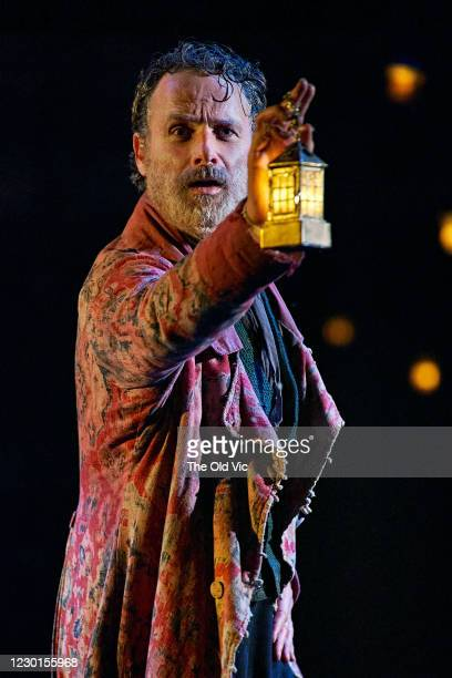 Andrew Lincoln seen during a rehearsal for 'In Camera A Christmas Carol' at The Old Vic Theatre on December 11, 2020 in London, England.