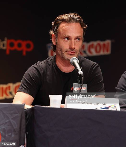 Andrew Lincoln speaks at 'The Walking Dead' NY Comic Con Panel on October 11 2014 in New York City