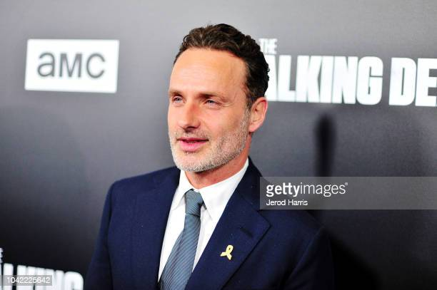 Andrew Lincon arrives at the Premiere Of AMC's 'The Walking Dead' Season 9 at the DGA Theater on September 27 2018 in Los Angeles California