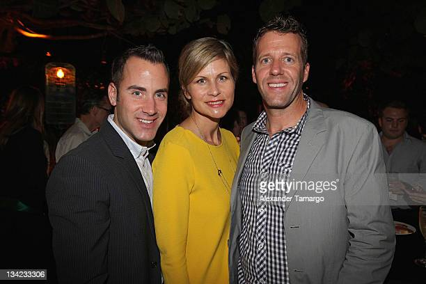 Andrew Lipman Anja Kaehny and Michael Patrick attend Design Miami 2011 welcome cocktail event at W South Beach on November 28 2011 in Miami Beach...