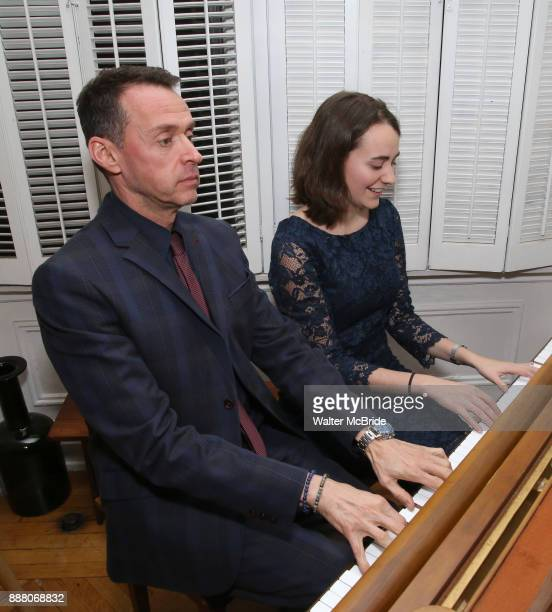 Andrew Lippa and Madeline Smith during the Dramatists Guild Foundation Salon with Playwright Itamar Moses at the Cryer Residence on December 7 2017...