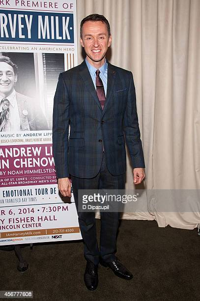 Andrew Lippa attends the I Am Harvey Milk Benefit Concert after party at Bryant Park Grill on October 6 2014 in New York City