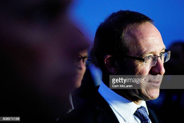 Andrew Little of the Labour Party address media after the dawn service on February 6 2016 in Waitangi New Zealand The Waitangi Day national holiday...