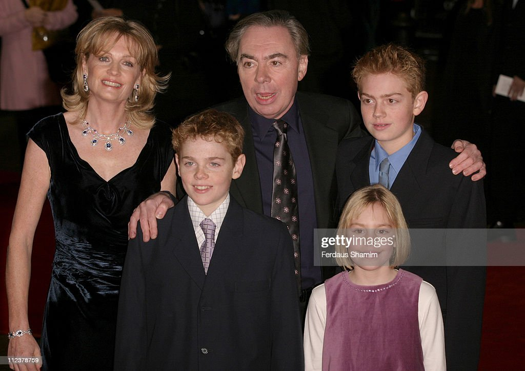 Andrew Lloyd Webber and family during 'The Phantom of the Opera' London Premiere - Arrivals at Odeon Leicester Square in London, England, Great Britain.