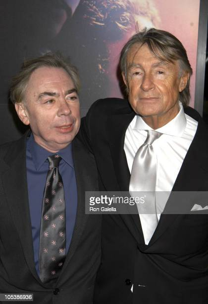 Andrew Lloyd Webber and Joel Schumacher director during The Phantom of the Opera New York City Premiere Outside Arrivals at Ziegfeld Theater in New...