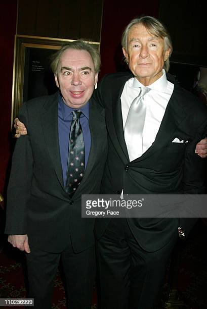 Andrew Lloyd Webber and Joel Schumacher during The Phantom of the Opera New York Premiere Inside Arrivals at Ziegfield Theater in New York City New...