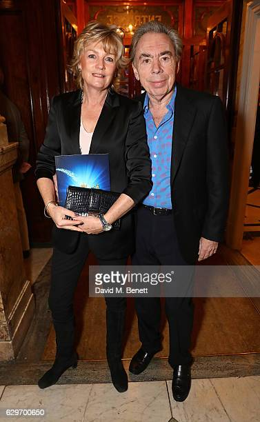 Andrew Lloyd Webber and Madeleine Astrid Gurdon attend the Opening Night performance of Cinderella at London Palladium on December 14 2016 in London...