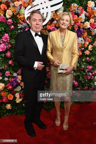 Andrew Lloyd Webber and Madeleine Gurdon attend the American Theatre Wing Centennial Gala at Cipriani 42nd Street on September 24 2018 in New York...