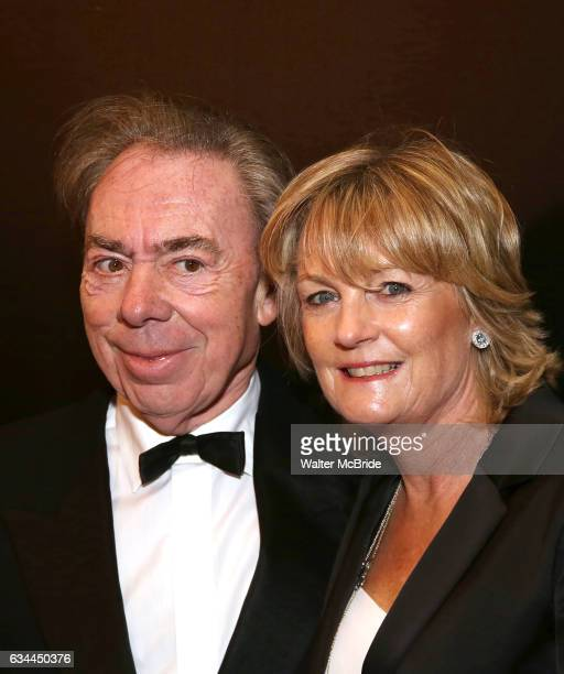 Andrew Lloyd Webber and Madeleine Gurdon attend the Broadway Opening Night of Sunset Boulevard' at the Palace Theatre on February 9 2017 in New York...