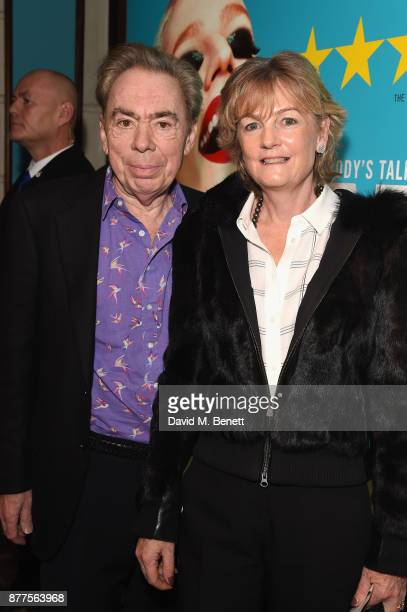Andrew Lloyd Webber and Madeleine Gurdon attend the opening night of Everybody's Talking About Jamie a new musical for today at The Apollo Theatre on...