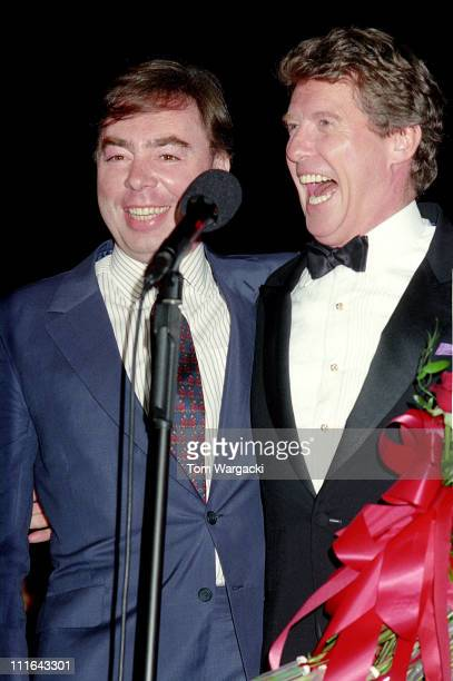Andrew Lloyd Webber and Michael Crawford during Michael Crawford with his Daughters, Opening Night at the Royal Albert Hall - June 1992 at Royal...