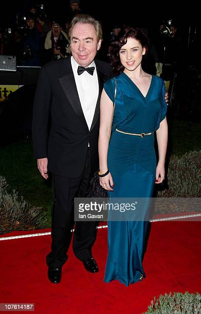 Andrew lloyd Webber and Sophie Evans attend 'A Night Of Heroes The Sun Military Awards' at the Imperial War Museum on December 15 2010 in London...