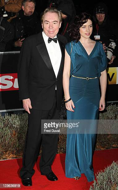 Andrew Lloyd Webber and Sophie Evans attend'A Night Of Heroes The Sun Military Awards' at the Imperial War Museum on December 15 2010 in London...
