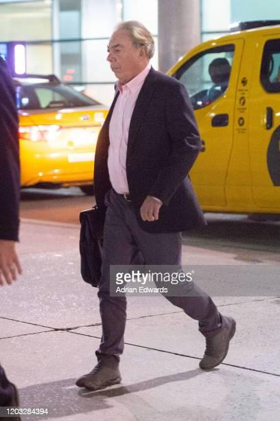 Andrew Lloyd Webber arrives at JFK airport on January 31, 2020 in New York City.
