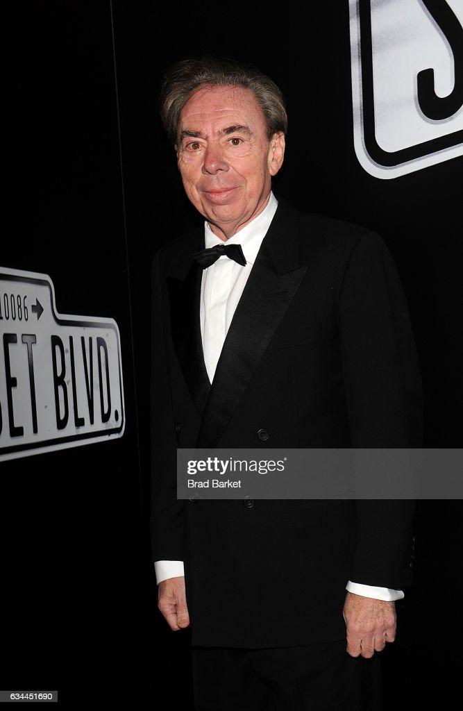 Andrew Lloyd Webber attends Andrew Lloyd Webber's SUNSET BOULEVARD Opens On Broadway Starring Glenn Close on February 9, 2017 in New York City.