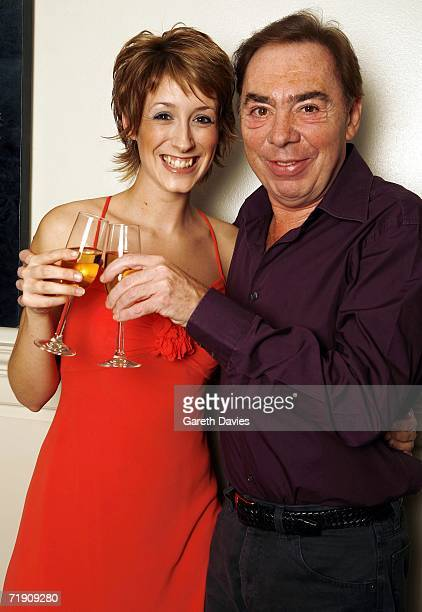 Andrew Lloyd Webber poses with Connie Fisher winner of How Do you solve a problem like Maria on September 13 2006 in London England The BBC's prime...