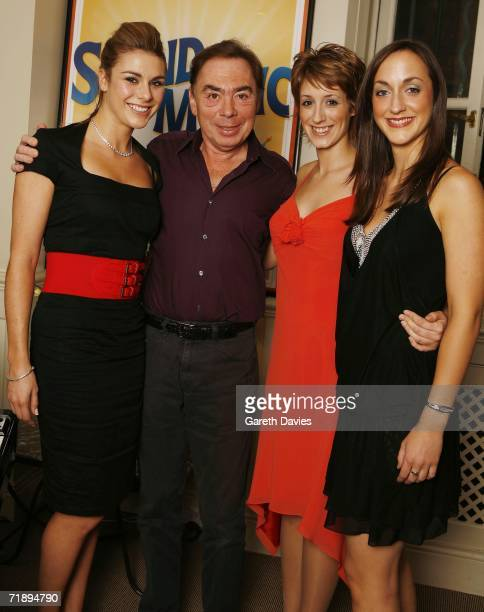 Andrew Lloyd Webber poses with Siobhan Dillon Connie Fisher Helena Blackman the 3 remaining finalists of How Do you solve a problem like Maria on...