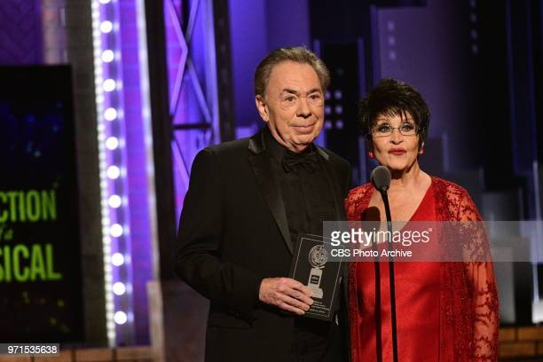 Andrew Lloyd Webber recipient of the 2018 Special Tony Award for Lifetime Achievement in the Theater and Chita Rivera recipient of the 2018 Special...