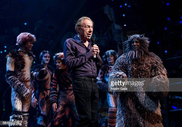Andrew Lloyd Webber speaks onstage at the firstever revival of Andrew Lloyd Webber's iconic CATS on Broadway on July 31 2016 in New York City