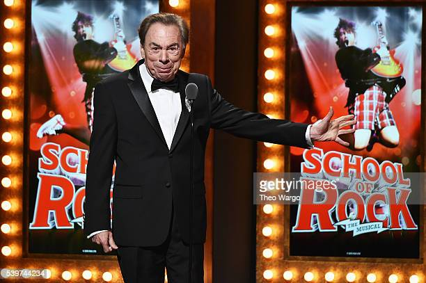 Andrew Lloyd Webber speaks onstage during the 70th Annual Tony Awards at The Beacon Theatre on June 12 2016 in New York City