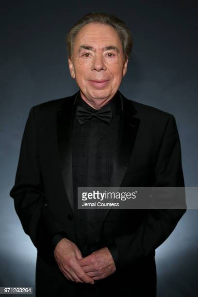 Andrew Lloyd Webber winner of the award for Lifetime Achievement in the Theatre poses in the 72nd Annual Tony Awards Media Room at 3 West Club on...