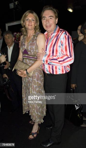 """Andrew Lloyd Webber with his wife Madeleine Lloyd Webber attend the """"Joseph And The Amazing Technicolor Dreamcoat"""" first night after party on July..."""