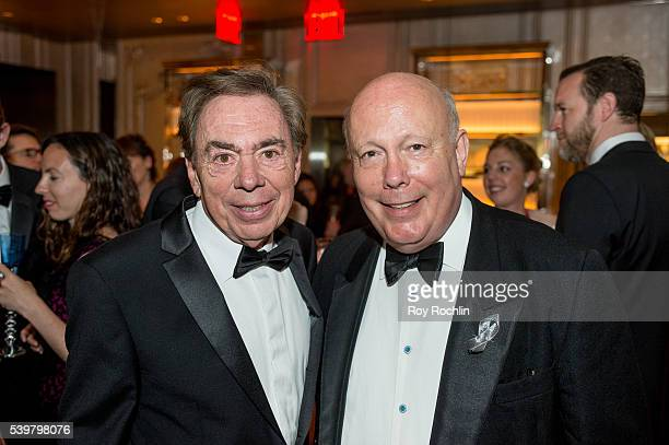 Andrew Lloyd Webber withJulian Fellowes attend DKC/OM's Tony Awards After Party at Baccarat Hotel on June 12 2016 in New York City