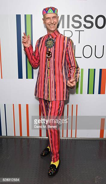 Andrew Logan attends the 'Missoni Art Colour' private view and dinner in partnership with Woolmark at The Fashion and Textile Museum on May 4, 2016...