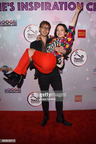K Andrew Lowe and Alexis G Zall attend Shane's Inspiration's 20th Anniversary 'Boogie Wonderland' Gala on March 10 2018 in Los Angeles California