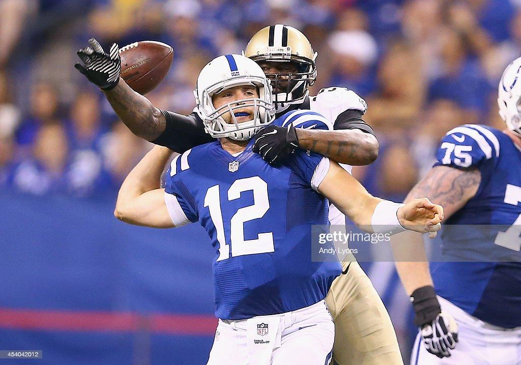 New Orleans Saints v Indianapolis Colts : News Photo