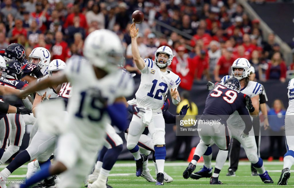 Wild Card Round - Houston Texans v Indianapolis Colts : News Photo