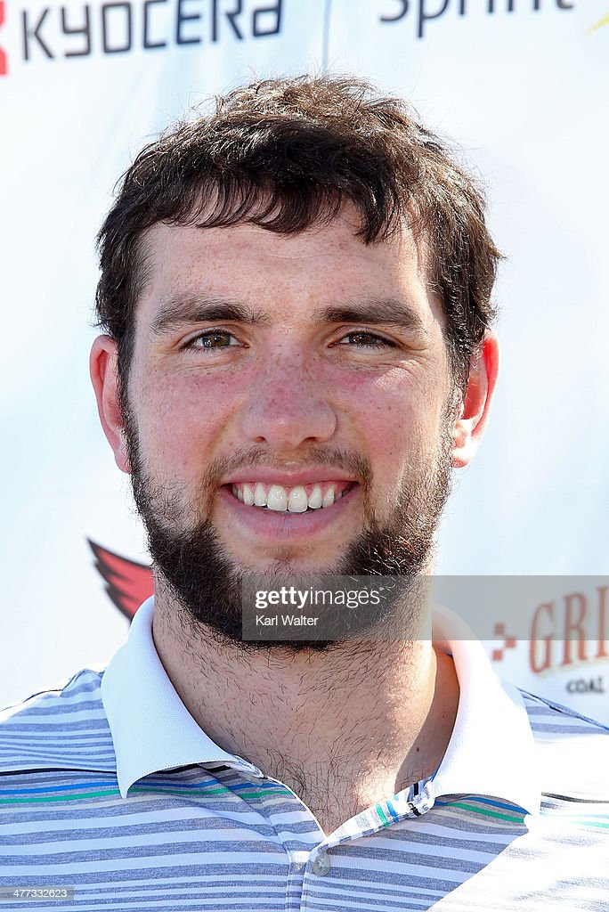 Andrew Luck of the Indianpolis Colts appears during the Arizona Celebrity Golf Classic benefitting the Arians Family Foundation on March 8, 2014 at the Westin Kierland Resort & Spa in Scottsdale, Arizona.